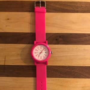 Timex Hot Pink Rubber Watch with Nightlight